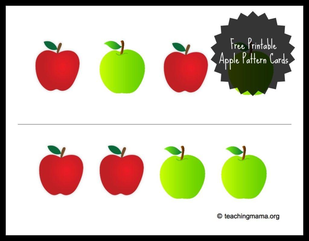 Apple Sensory Bin With Free Printable