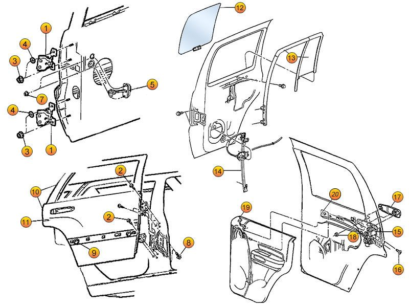 Jeep Liberty Rear Door Replacement Parts