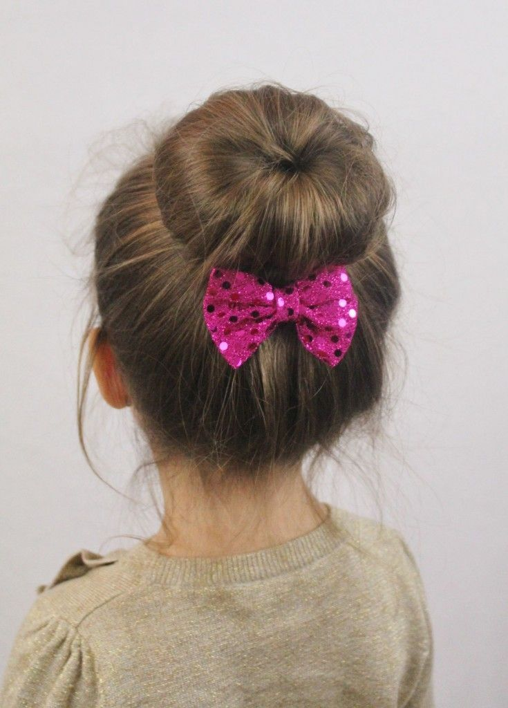 14 Cute And Lovely Hairstyles For Little Girls Sock Bun