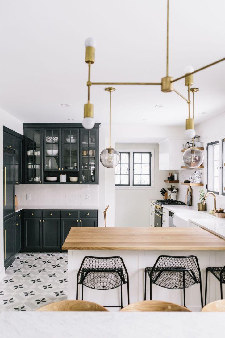 Black u white Interiors I Dream Of Pinterest Kitchens