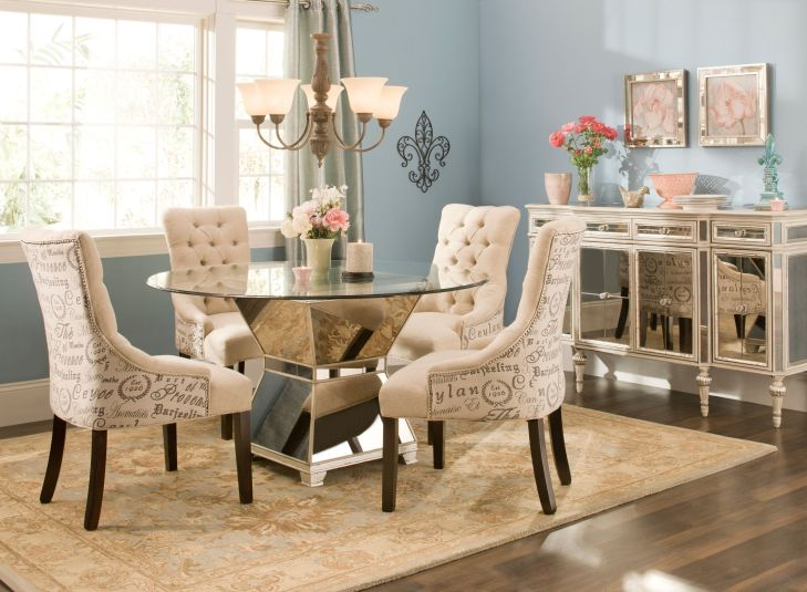 Mirage Glass Dining Set  This dining set is what we call très chic