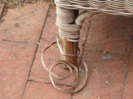 Repair Loose Ends on Wicker Furniture – It is important to cleanup and repair your wicker before painting.