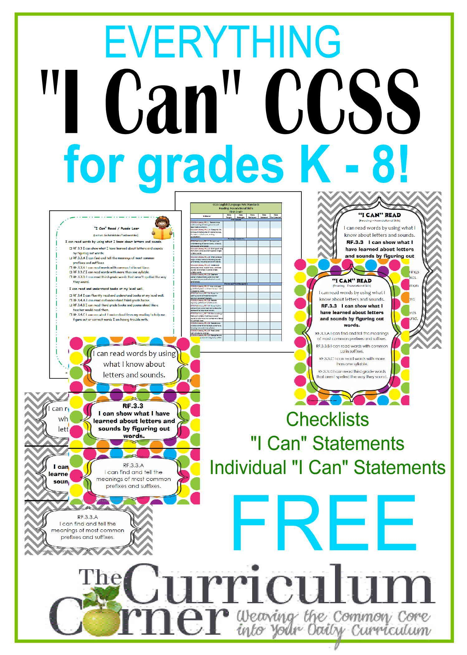 Everything Ccss I Can For K
