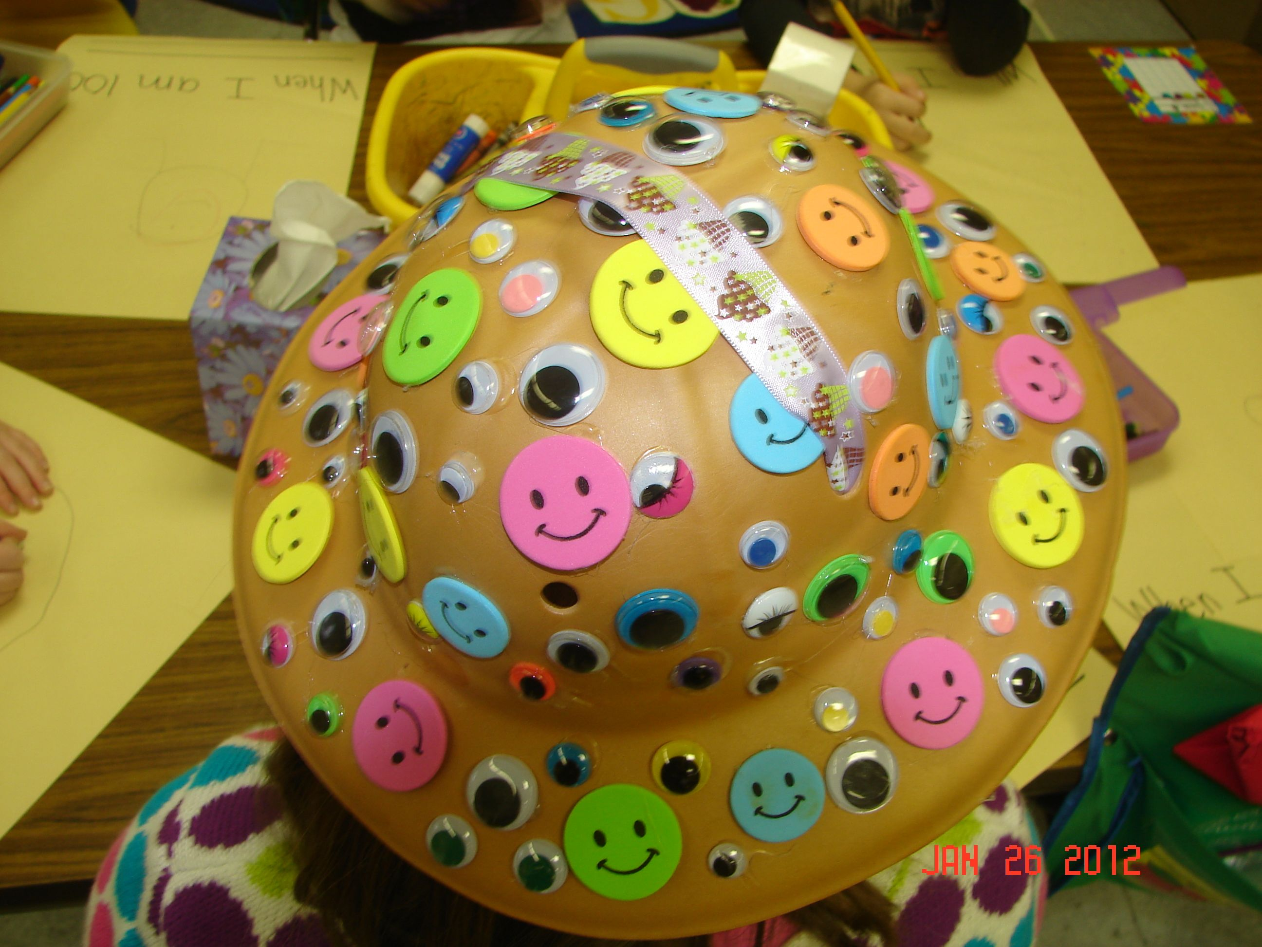 Students In My Kindergarten Class Decorated Hats With 100