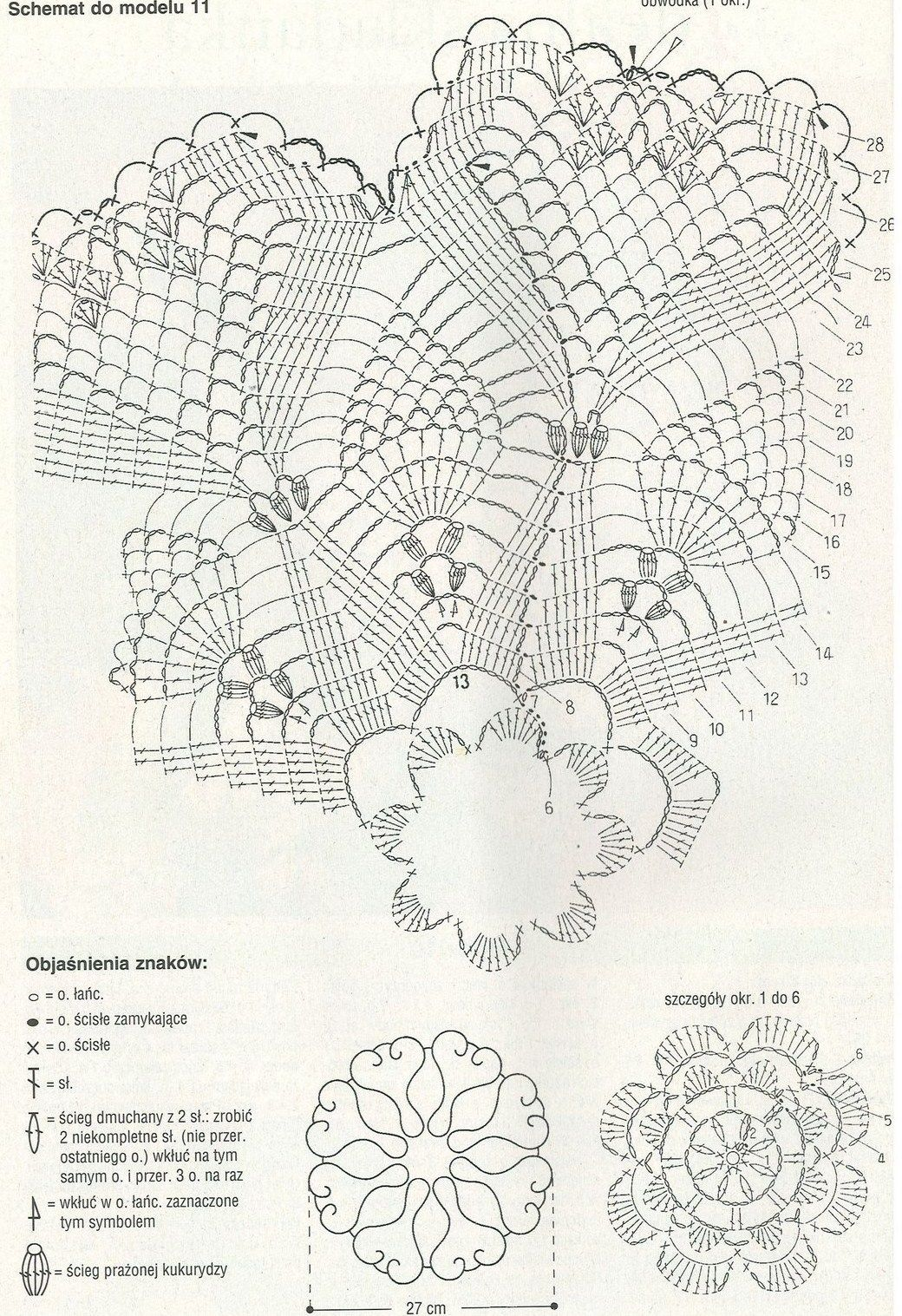 Rose Pineapples And Hearts Crochet Doily Diagram
