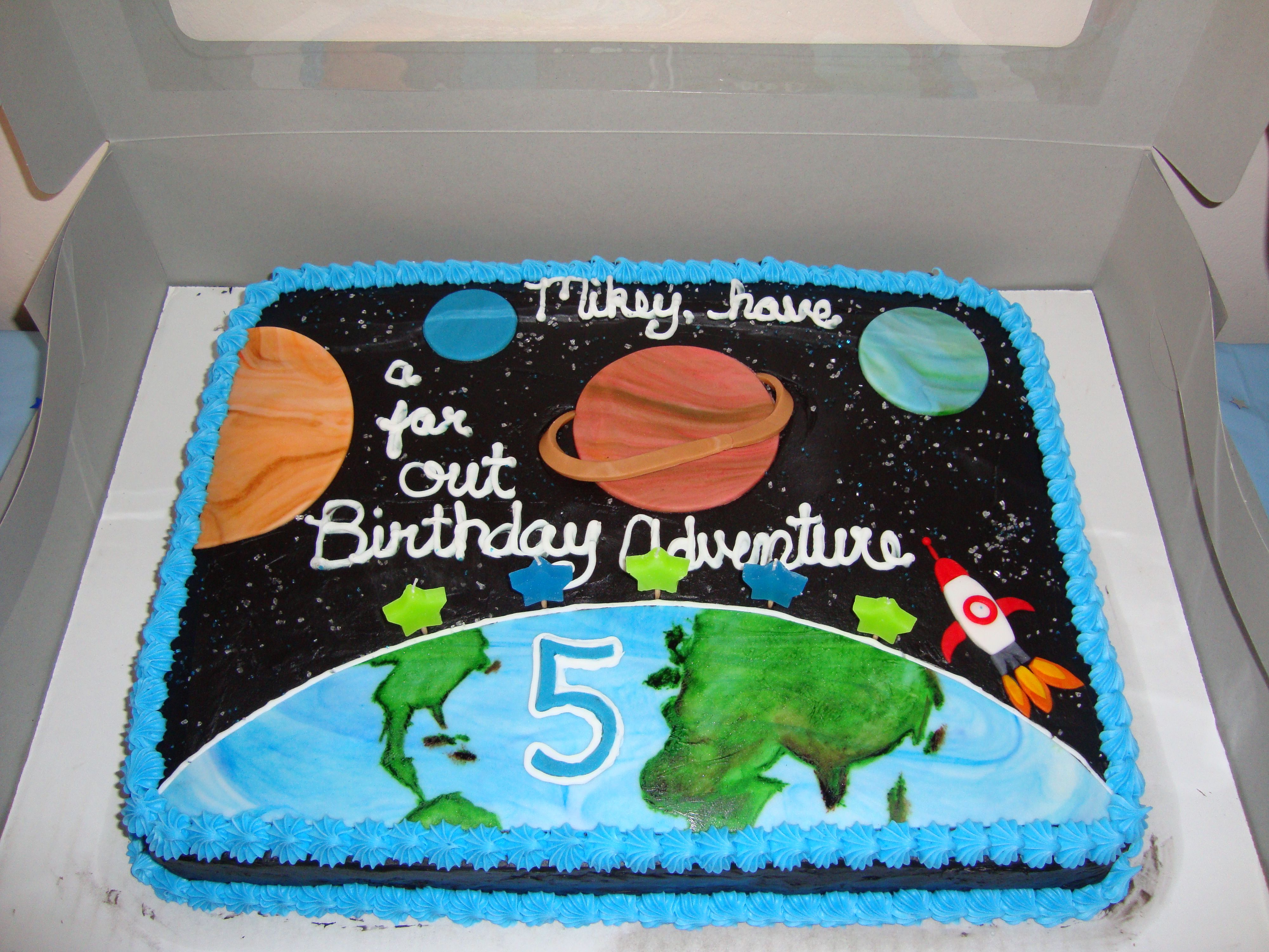 Outer Space Cake For My 5 Year Old Son