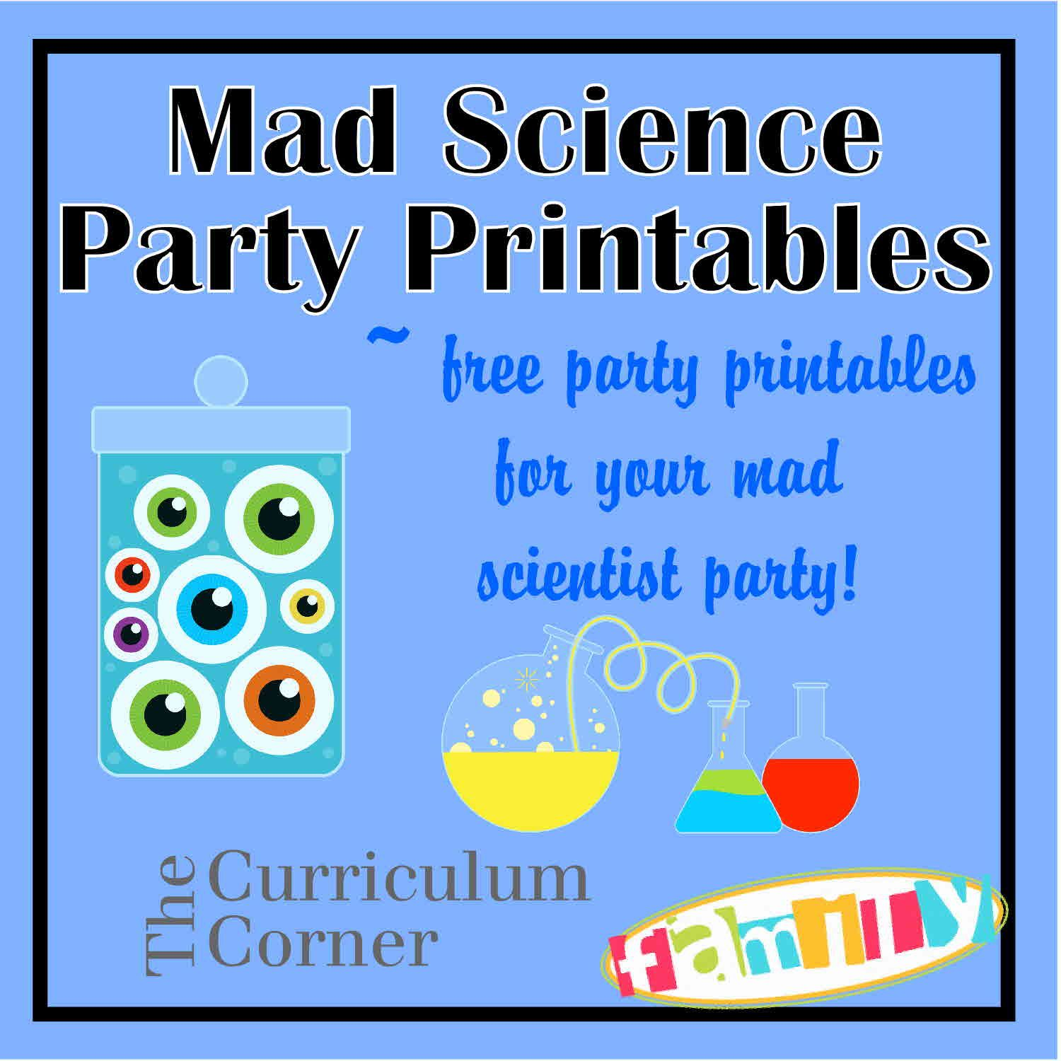 Free Mad Scientist Party Printables From Ecurriculumcornerfamily