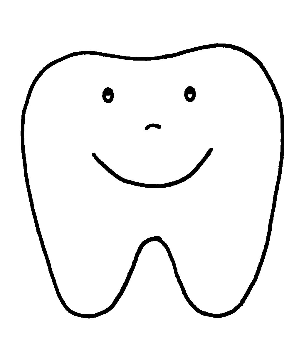 Happy Tooth Pattern Or Coloring Page Pinned I Love