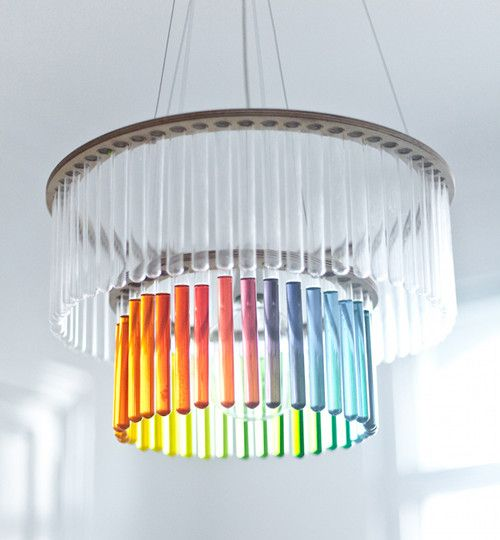 Test Chandelier That You Can Fill With Colored Water For Decoration Holidays