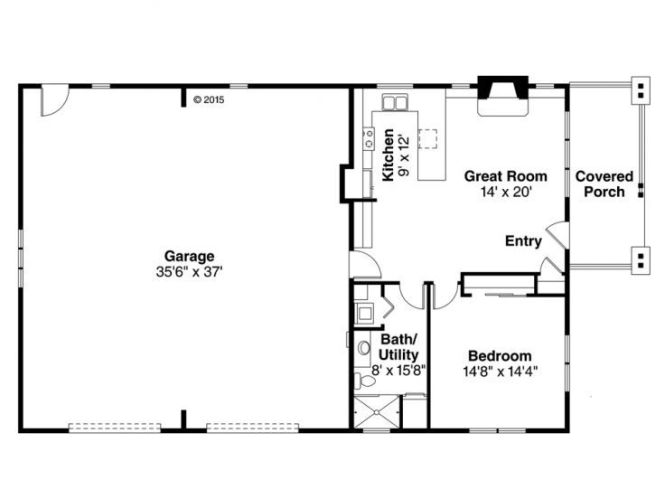 One Story Garage Apartment Floor Plans | Amazing House Plans