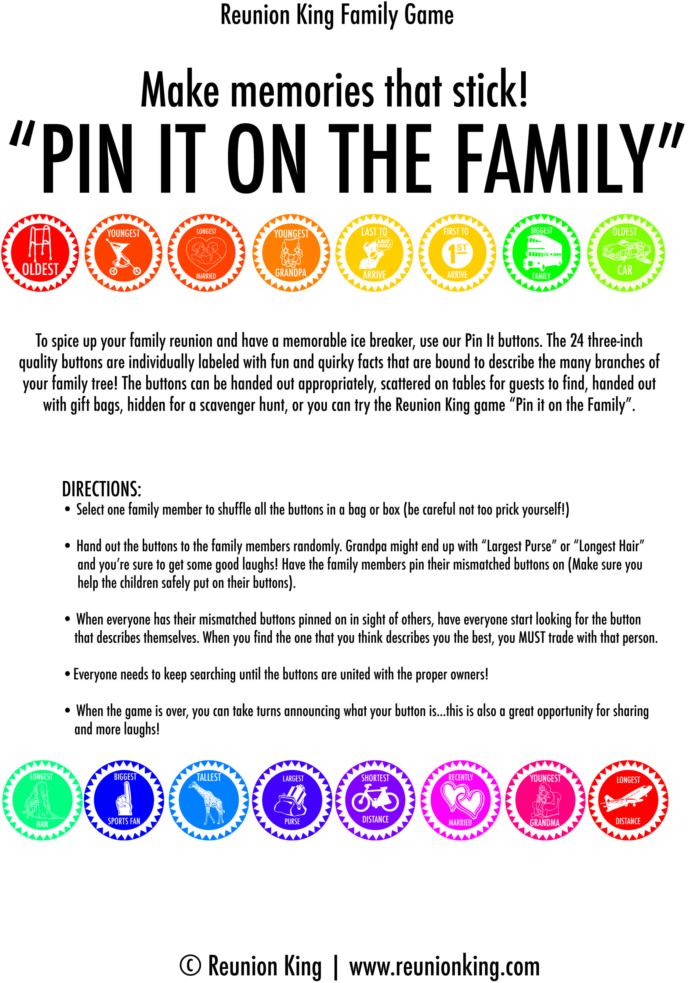 Downloadable A Fun Ice Breaker Sure To Get Your Guests Talking 48 Award Ribbons With Fun And
