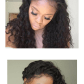 This loose curly inch wig is virgin brazilian human hair