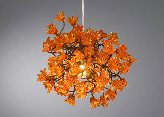 Chandeliers Orange Flowers 129 Each 8 Square Think About 2 Or 3 Of