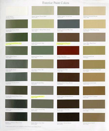 williamsburg paint colors martin senour paints on benjamin moore exterior color chart id=41485
