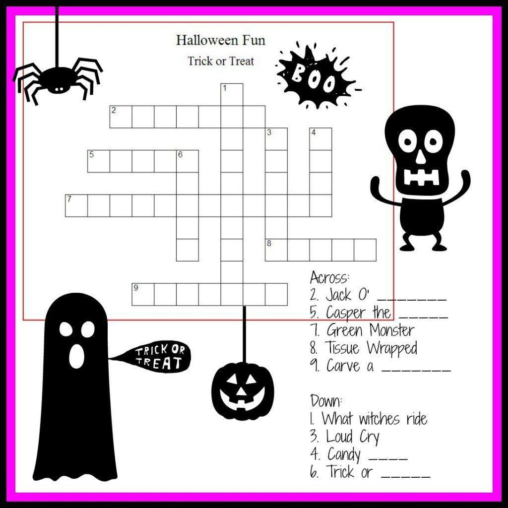 Halloween Crossword Amp Puzzles For Kids