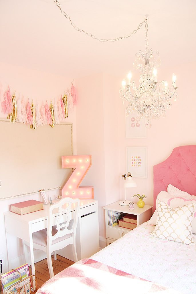 pink and gold girl's room   de tudo um pouco   pinterest   marquee