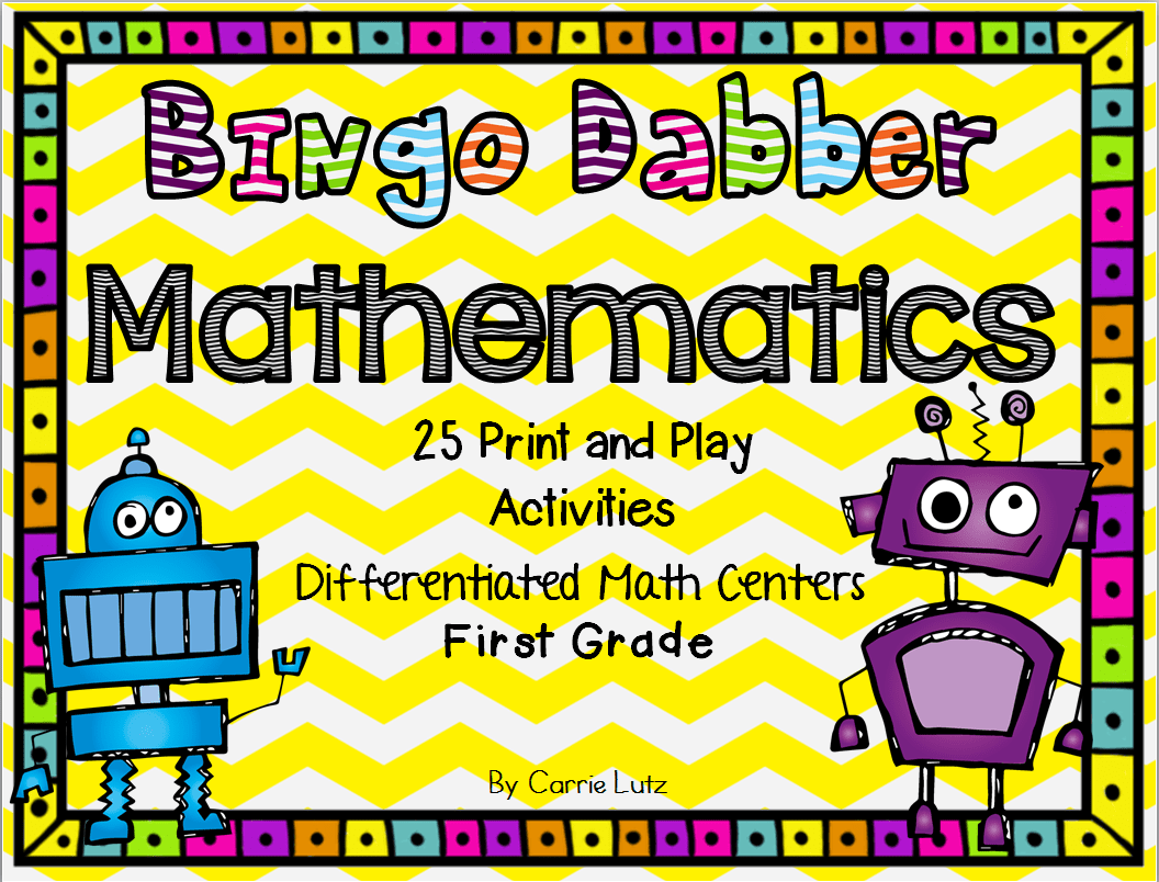 Bingo Dabber Worksheets Differentiated Work Stations