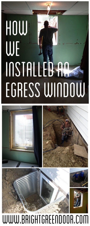 Ing An Egress Window In Our Luxurious Bat Dwelling