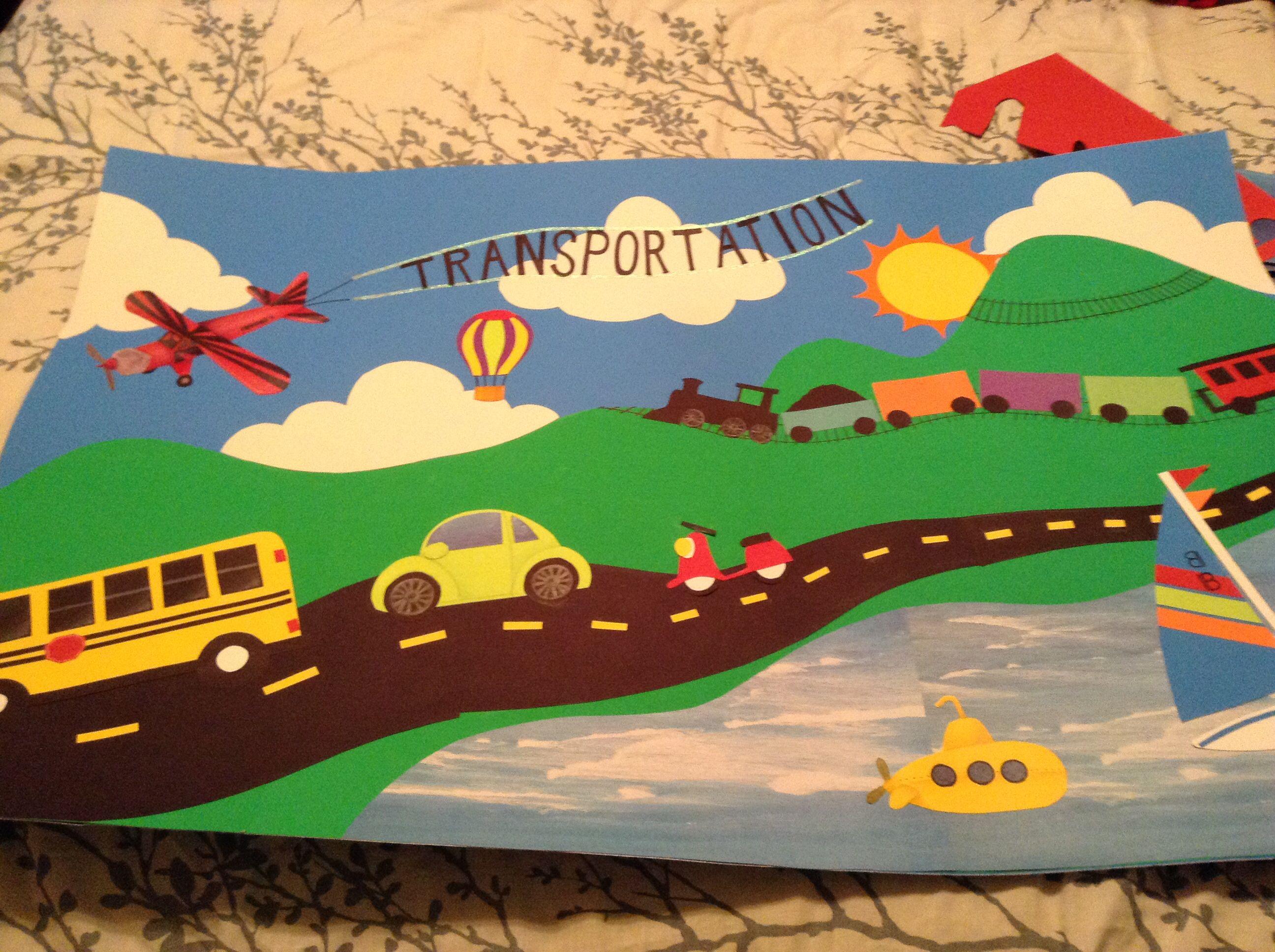 Pre K Transportation Theme Used For Bulletin Board