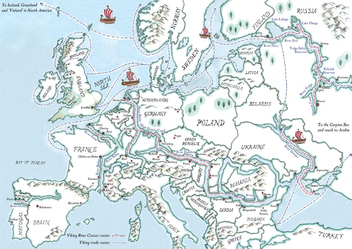 Vikings Trade Routes