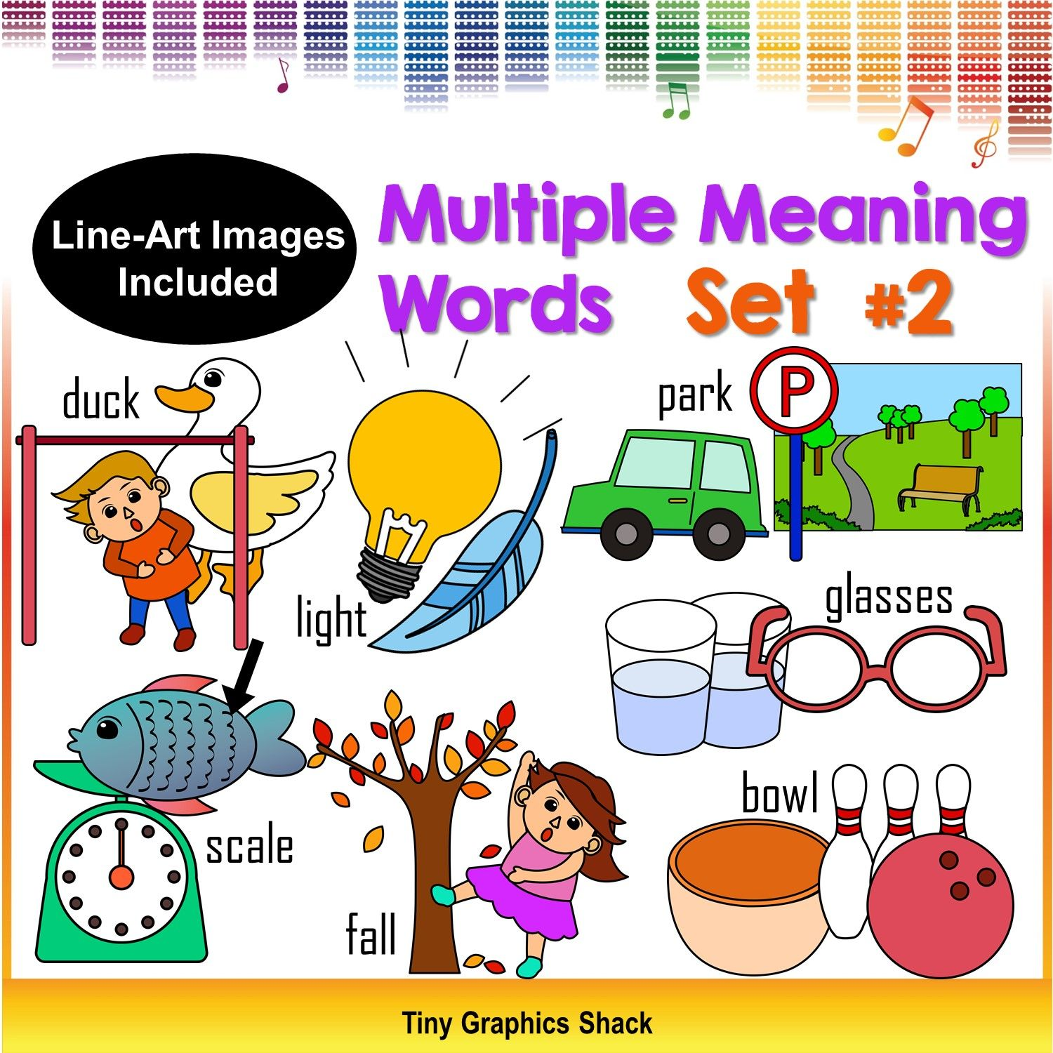 Multiple Meaning Words Clipart Set 2 Homonyms