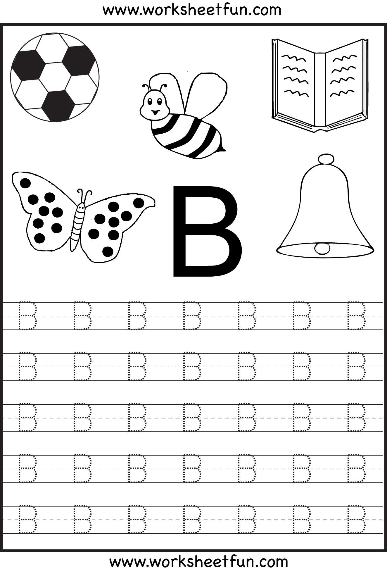 Free Printable Letter Tracing Worksheets For Kindergarten 26 Worksheets