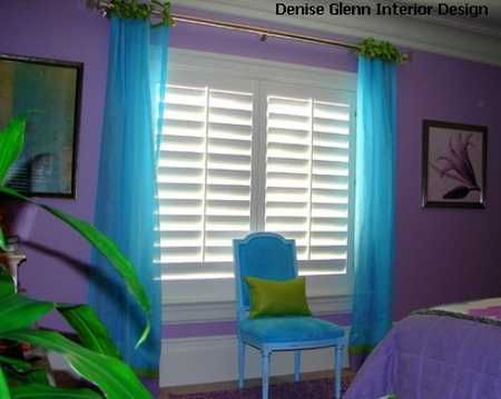 Turquoise Curtains With Purple Accents Google Search