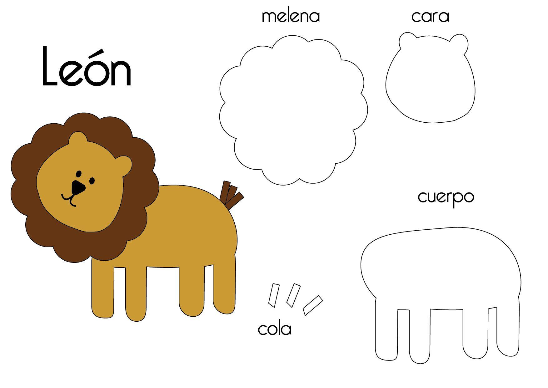 Felt Lion Template