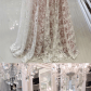 White long lace prom dress long sleeves prom dress elegant