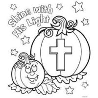 free printable christian halloween coloring pages