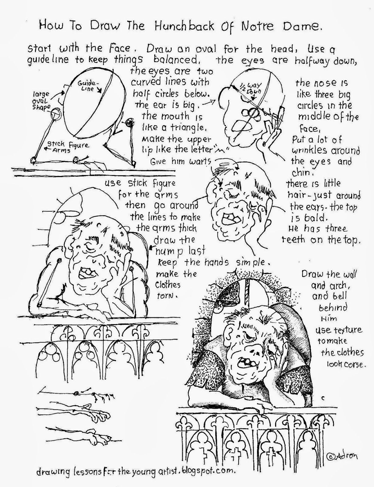 How To Draw The Hunchback Of Notre Dame Worksheet See