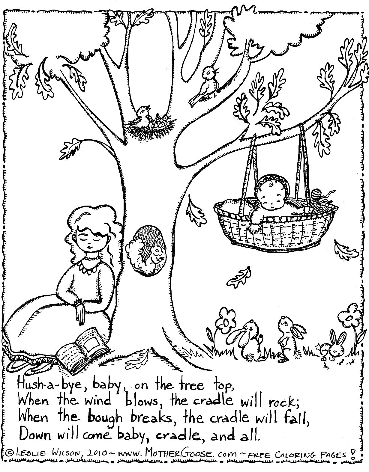 Nursery Rhyme Coloring Page Teaching