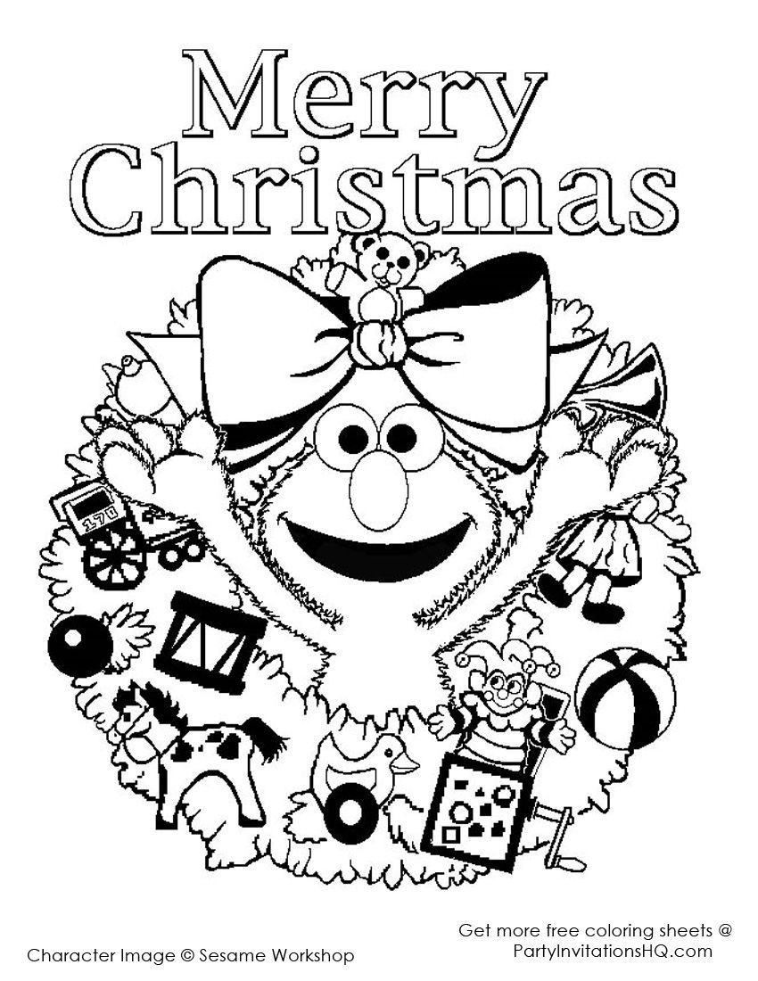Sesame Street Christmas Coloring Pages Coloring Pages