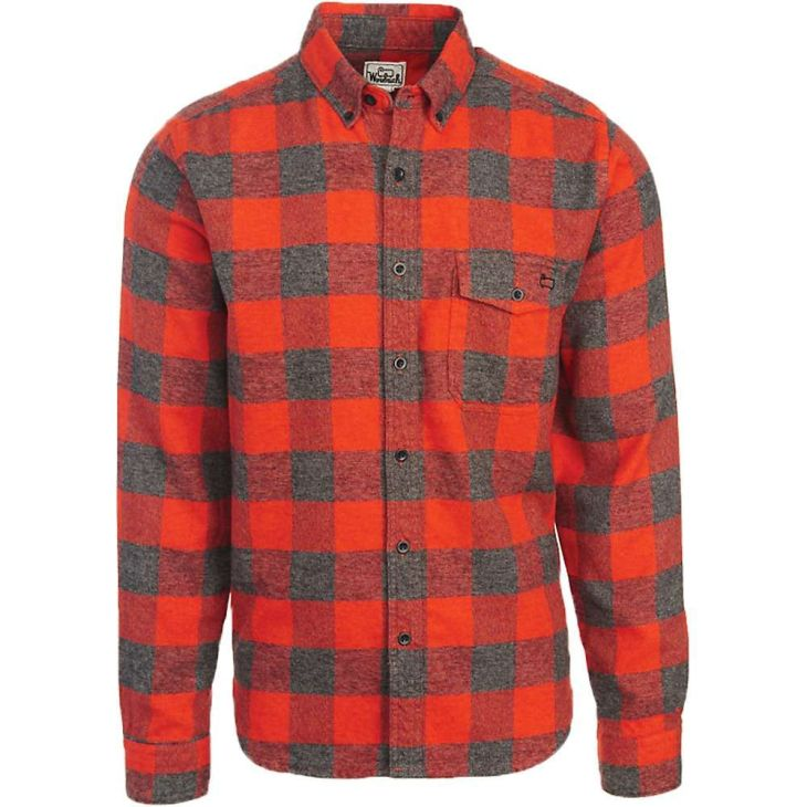 Woolrich Menus Twisted Rich Flannel Shirt  Large  Old Red