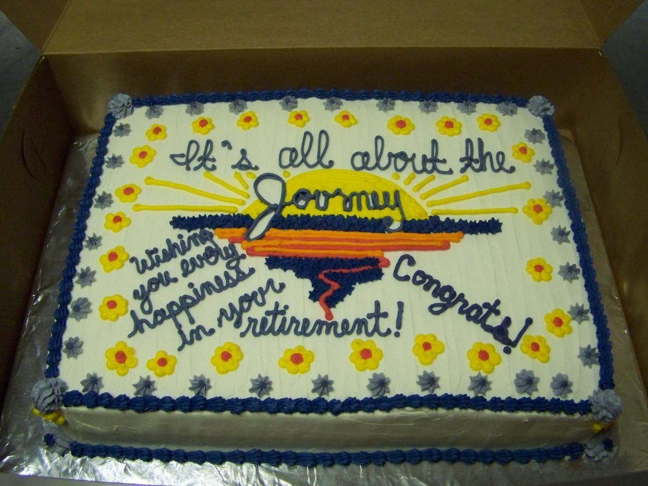 Retirement Cake Idea Cake