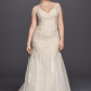 1940s style wedding dresses  Melissa Sweet Mermaid Long Vneck Lace Embroidered Bridal Dress with