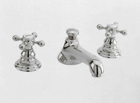 newport brass widespread faucet with metal cross handles
