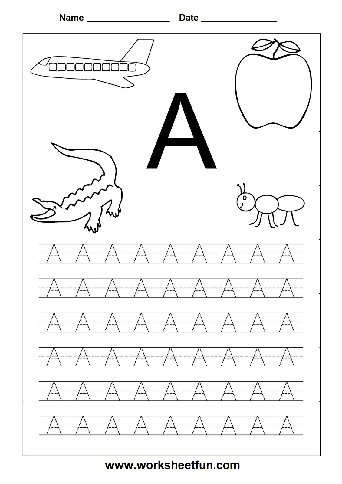 A Z Capital Letter Tracing Worksheets There Are Plenty