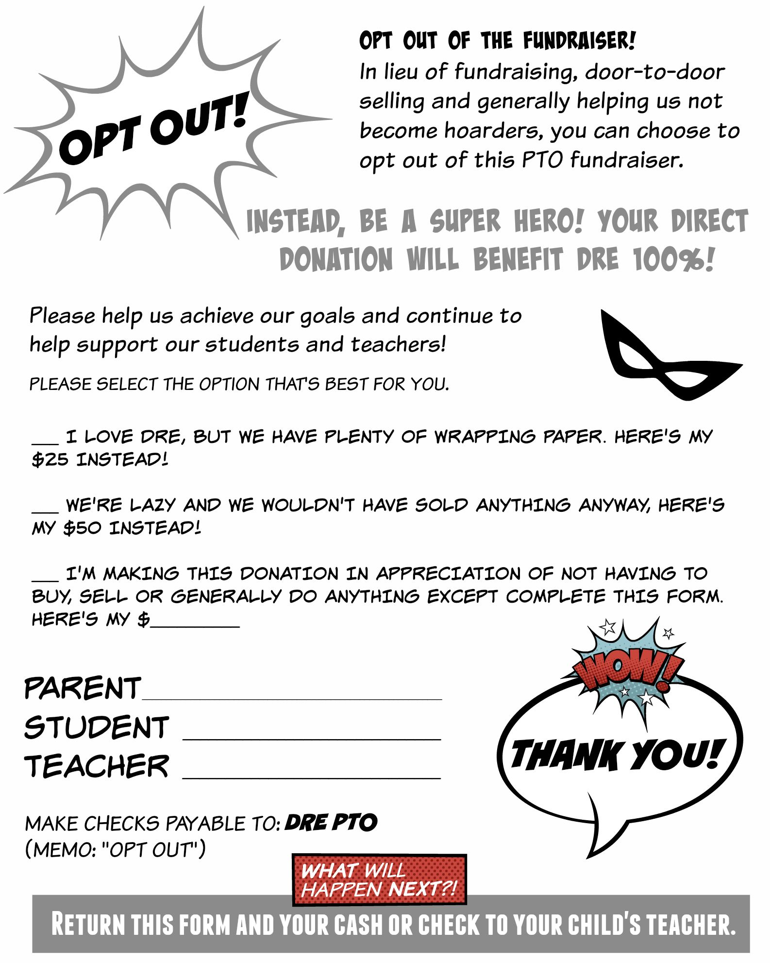 Give Parents The Option To Opt Out Of Pto School