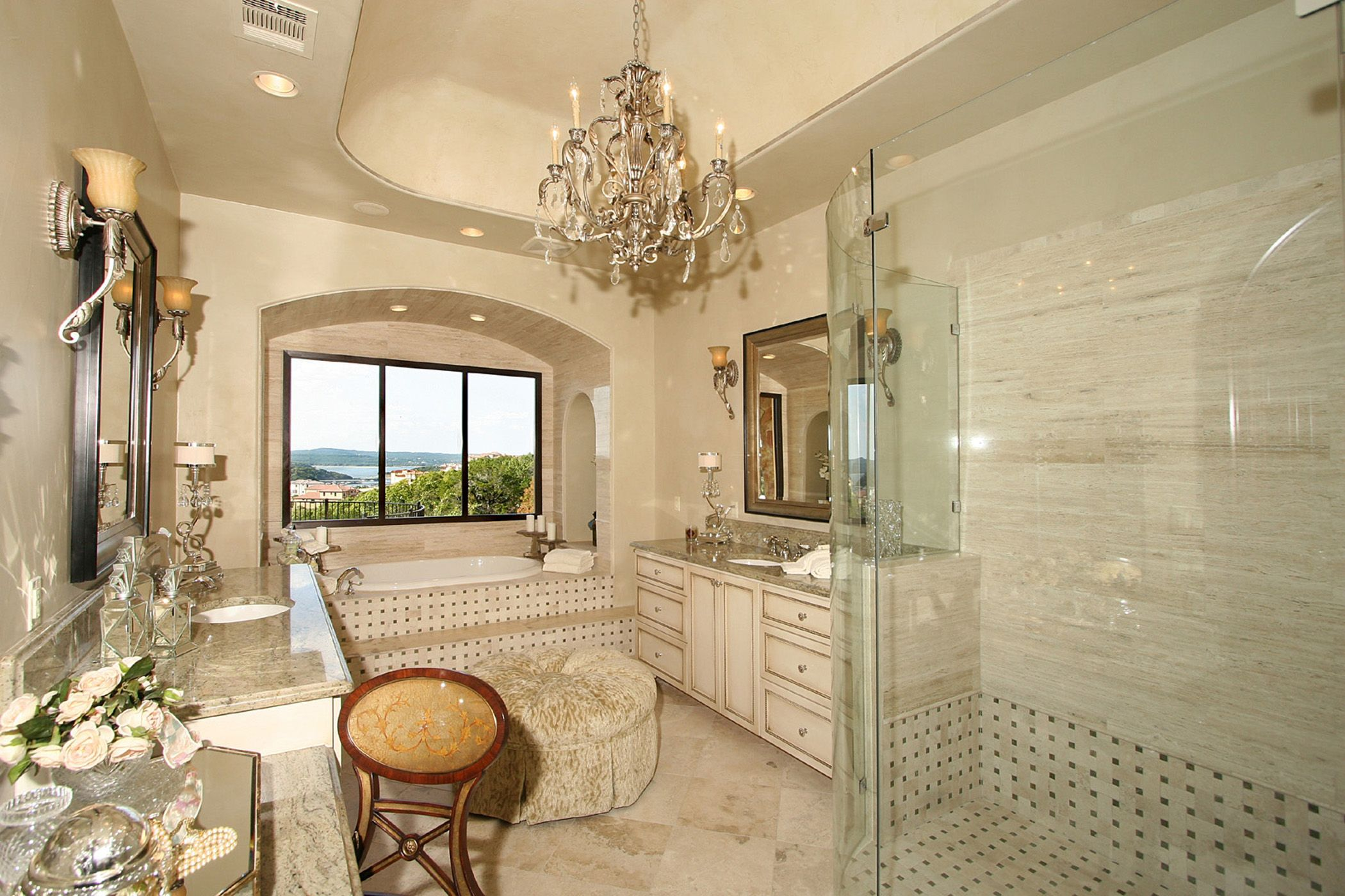 Rough Hollow Lakeway Master Bath Elegance With View By