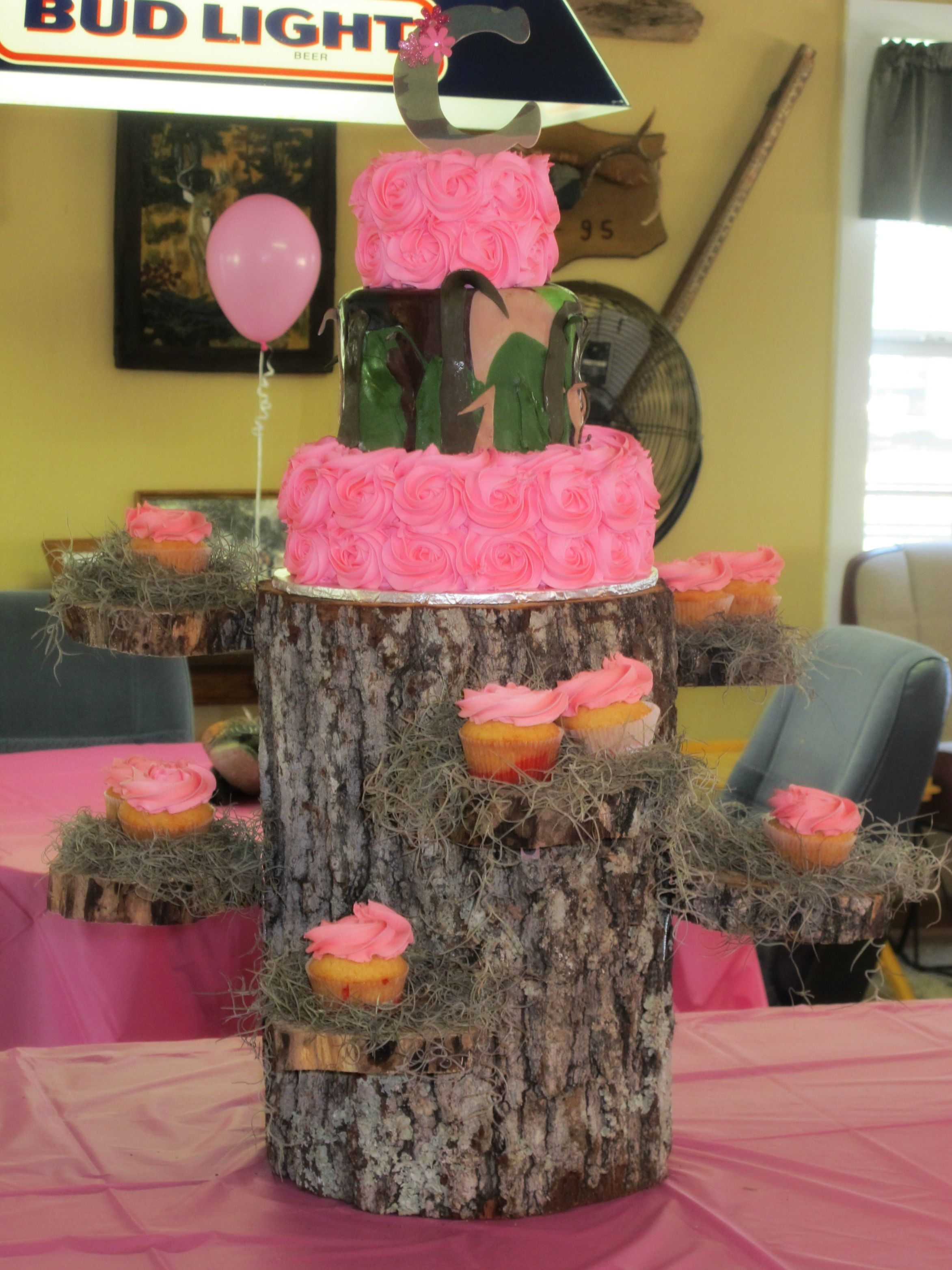 Claire S Duck Commander Birthday Cake Pink And Camo