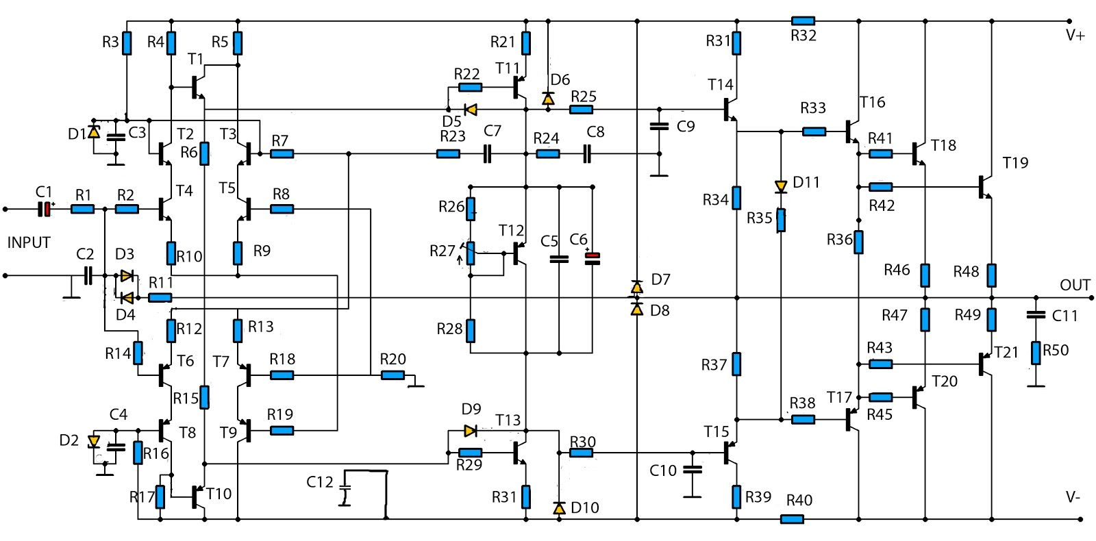 Schematic Circuit Diagram Using Mj Transistor High Power