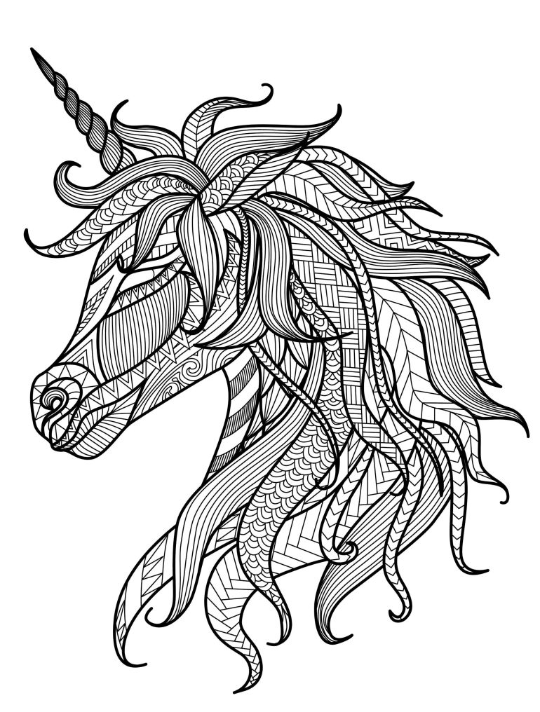 20 Gorgeous Free Printable Adult Coloring Pages - Page 5 ...   free printable coloring pages for adults unicorns