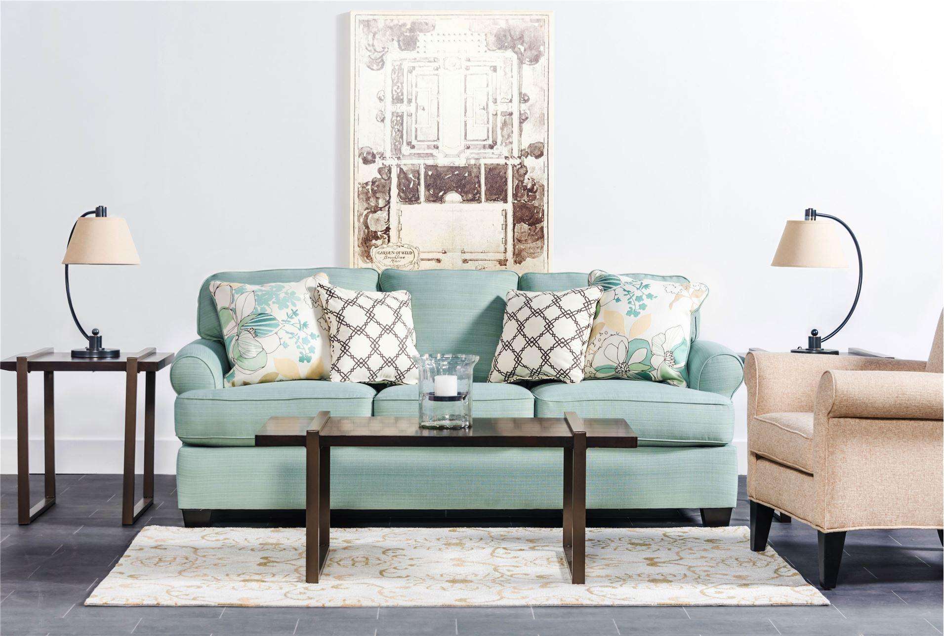 Daystar Seafoam Sofa 450 Living Spaces Or Ashley