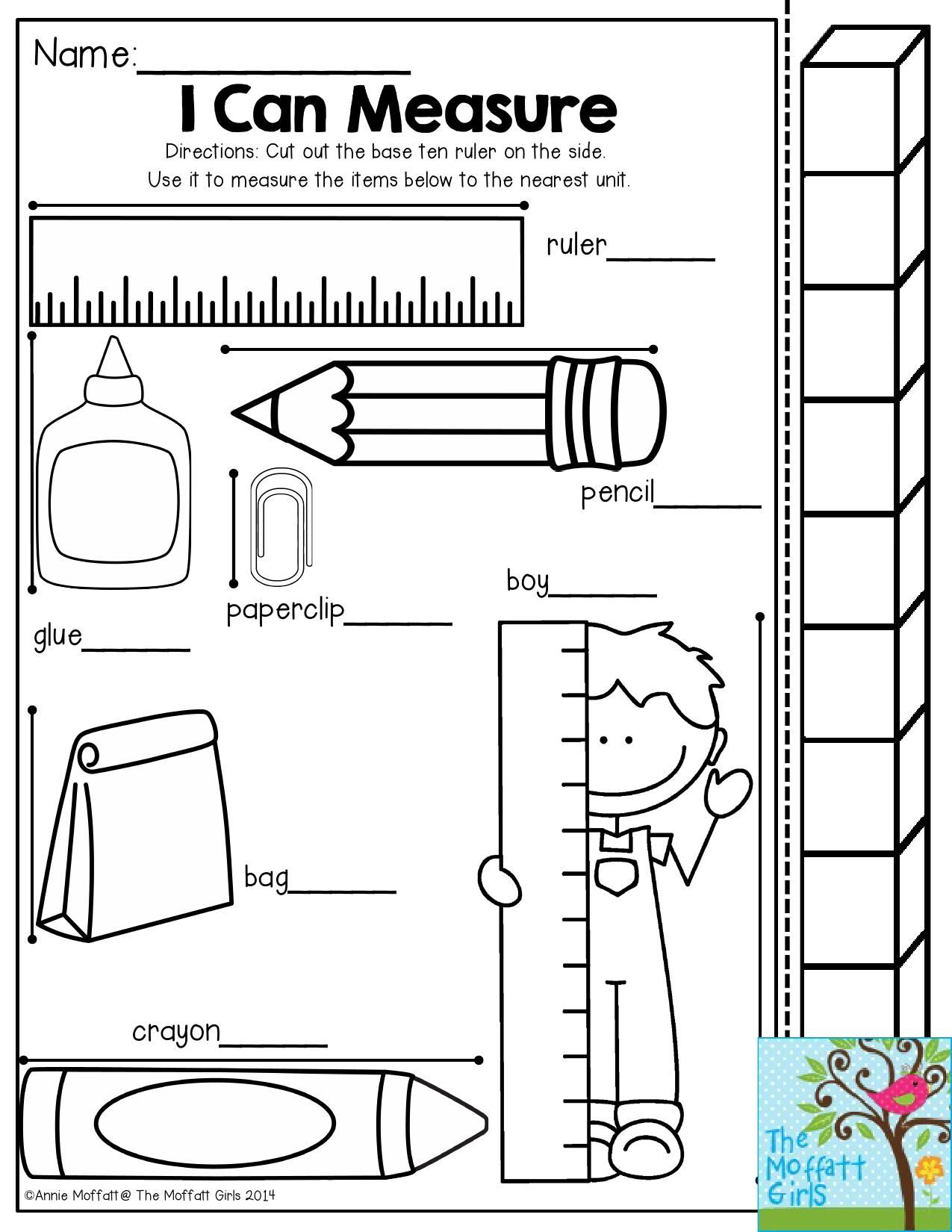 I Can Measure Have Students Use The Measuring Stick To See How Many Cubes Each Object Is The