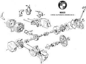Handy diagram of the E50 Puch engine | MOPEDS • Lil'Chopz