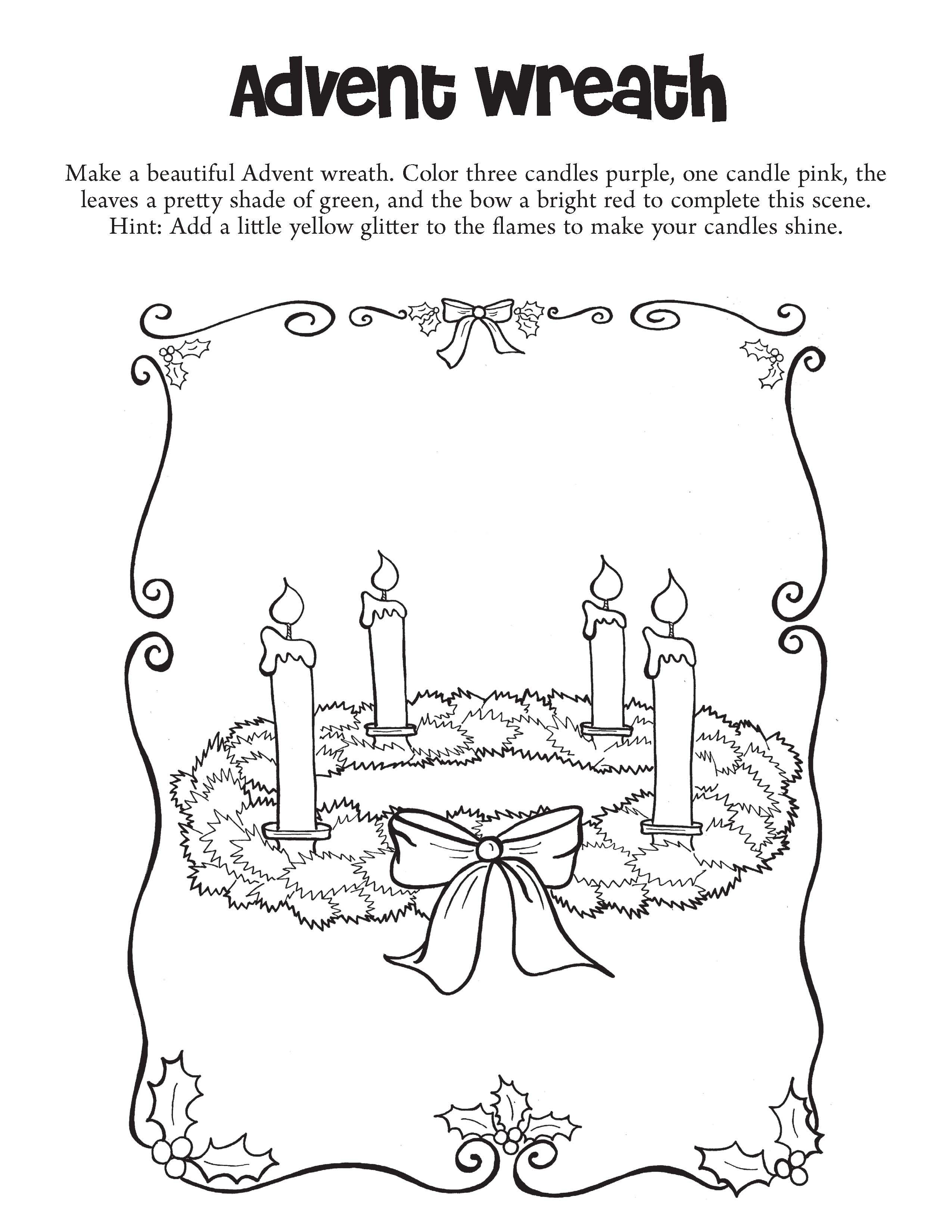Make A Beautiful Advent Wreath Color Three Candles Purple