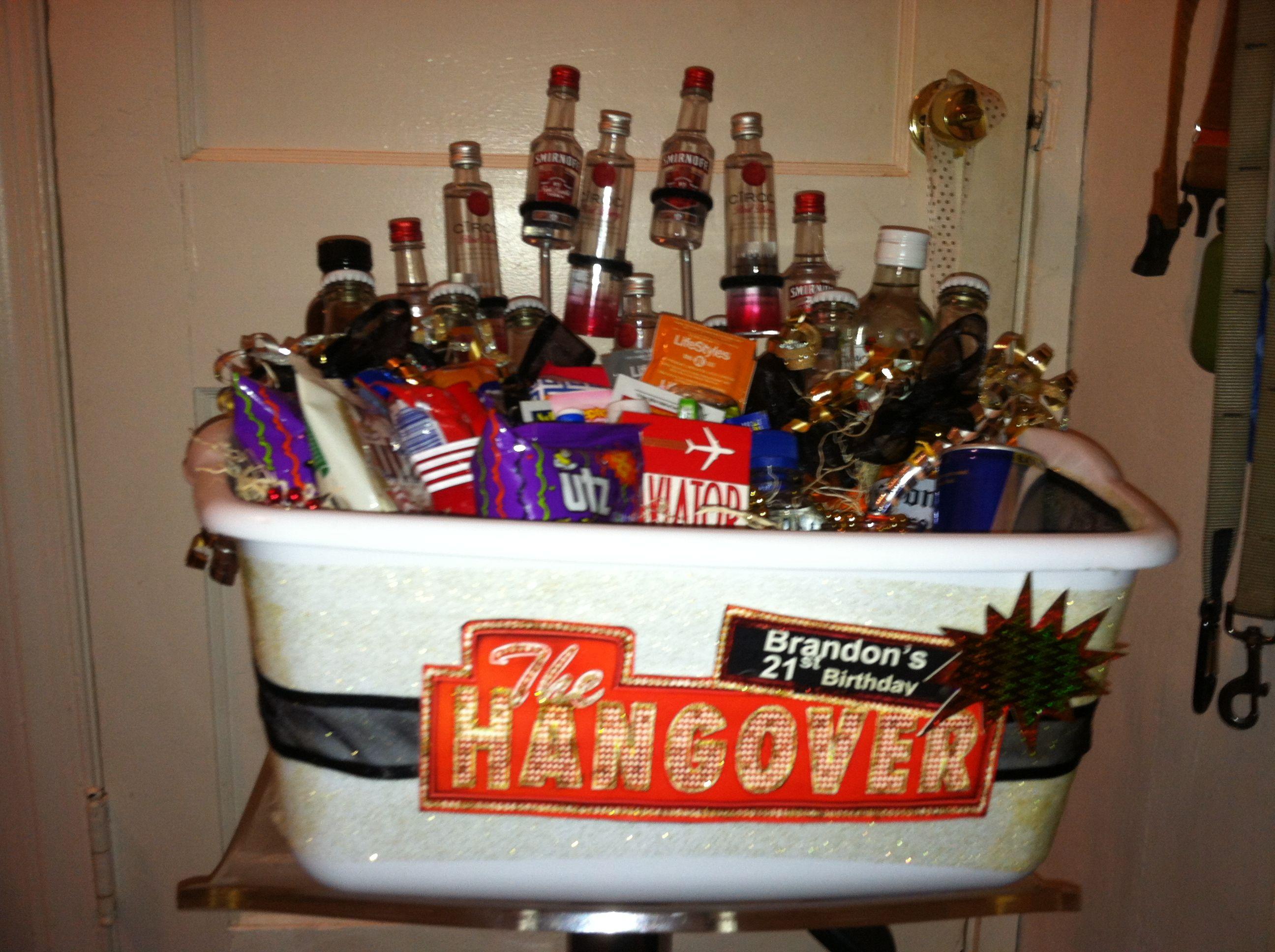 Epic Diy 21st Birthday Hangover Themed T Basket