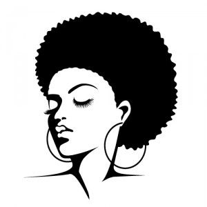 clip art pic2fly afro silhouette clip art having fun in a real type of way