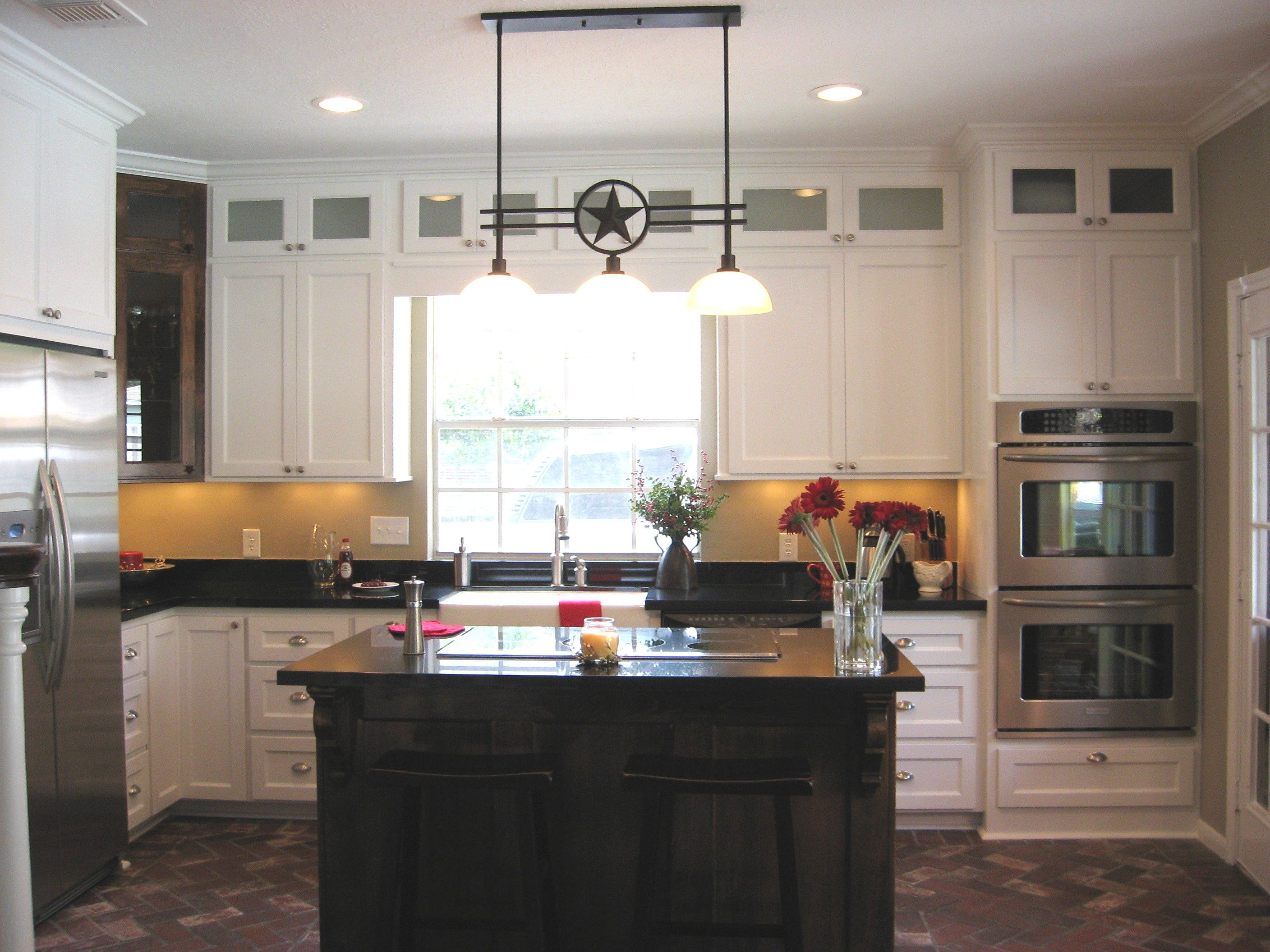 Texas Lone Star Kitchen With Custom Cabinets Stacked